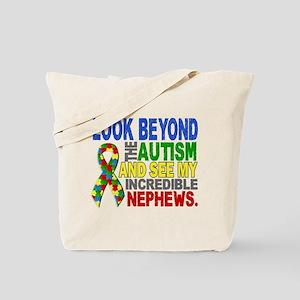 Look Beyond 2 Autism Nephews Tote Bag