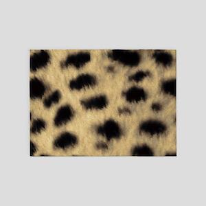 Cheetah Print 5'x7'area Rug