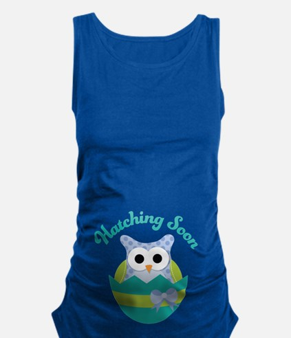 Hatching Soon Easter Owl Maternity Maternity Tank