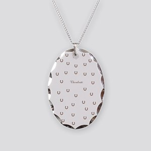 Horse Design #80000 Necklace Oval Charm