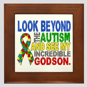 Look Beyond 2 Autism Godson Framed Tile
