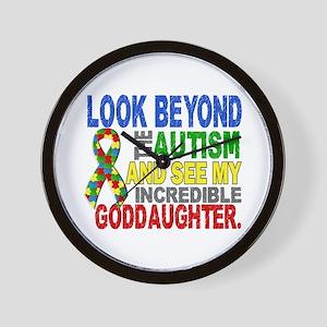 Look Beyond 2 Autism Goddaughter Wall Clock