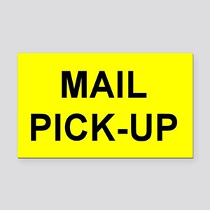Mailbox Mail Pick-Up Rectangle Car Magnet