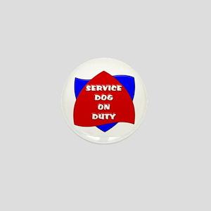 SERVICE DOG ON DUTY Mini Button