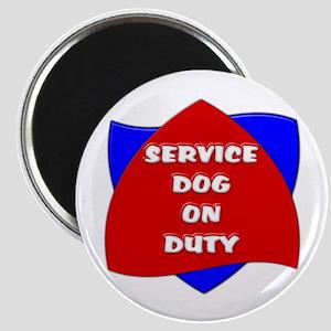 SERVICE DOG ON DUTY Magnets