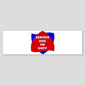 SERVICE DOG ON DUTY Bumper Sticker