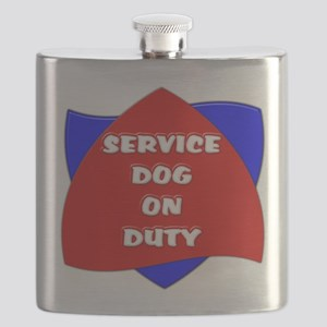 SERVICE DOG ON DUTY Flask