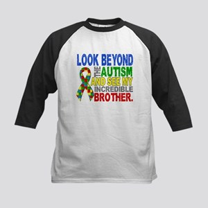 Look Beyond 2 Autism Brother Kids Baseball Jersey