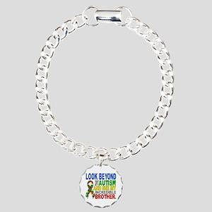 Look Beyond 2 Autism Bro Charm Bracelet, One Charm
