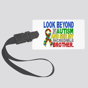 Look Beyond 2 Autism Brother Large Luggage Tag