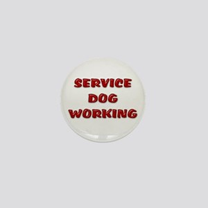 Service Dog Working White Mini Button