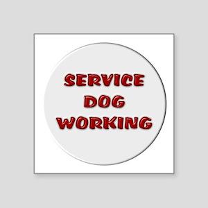 SERVICE DOG WORKING WHITE Sticker