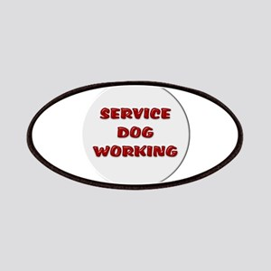 SERVICE DOG WORKING WHITE Patches