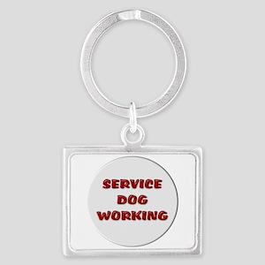 SERVICE DOG WORKING WHITE Keychains