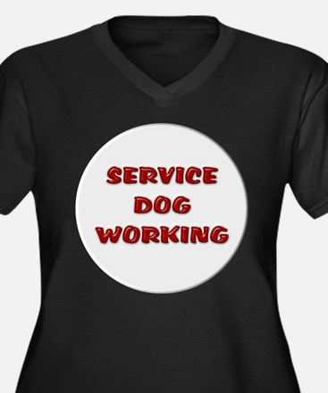 SERVICE DOG WORKING WHITE Plus Size T-Shirt