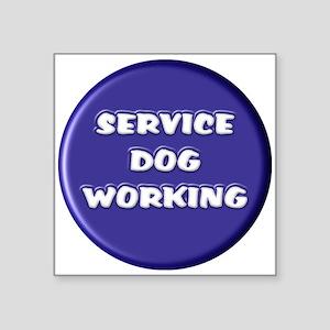SERVICE DOG WORKING BLUE Sticker