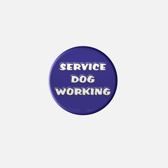 Service Dog Working Blue Mini Button