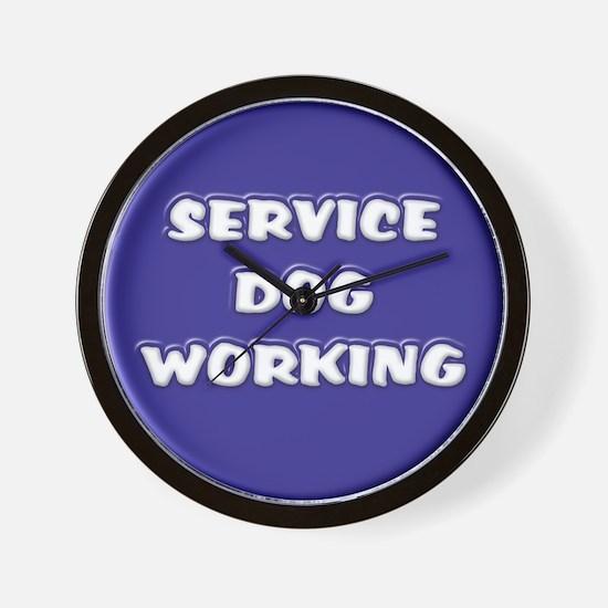SERVICE DOG WORKING BLUE Wall Clock
