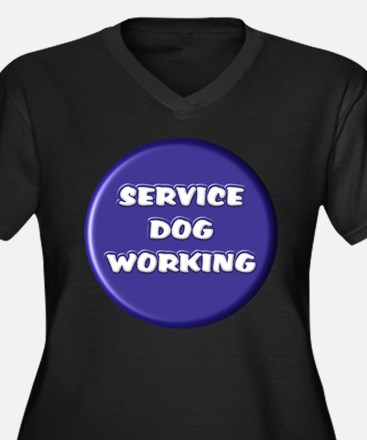 SERVICE DOG WORKING BLUE Plus Size T-Shirt
