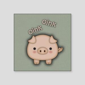 Cute Pink Pig Oink Sticker