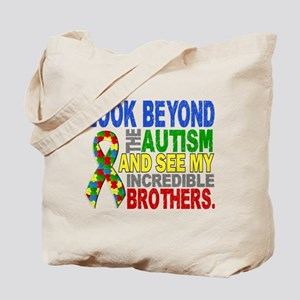 Look Beyond 2 Autism Brothers Tote Bag
