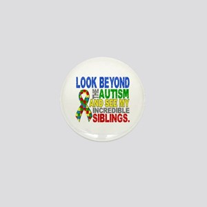 Look Beyond 2 Autism Siblings Mini Button