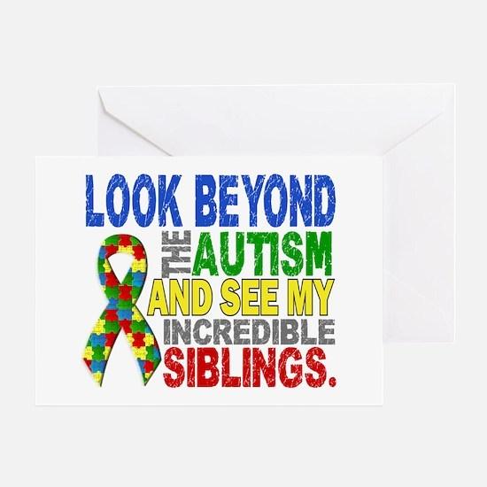 Look Beyond 2 Autism Siblings Greeting Card