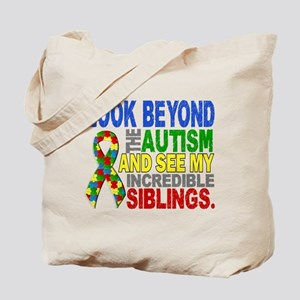 Look Beyond 2 Autism Siblings Tote Bag
