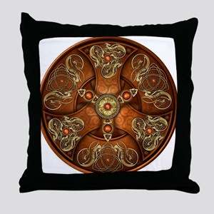 Celtic Shields - Copper Chieftain Throw Pillow