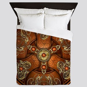 Celtic Shields - Copper Chieftain Queen Duvet