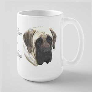 Dina's Grace Mastiff Large Mug
