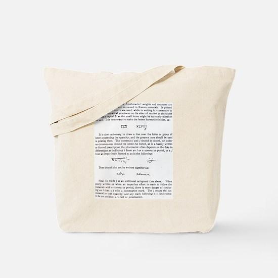 Roman numerals Tote Bag