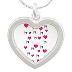 Horse Design#75000 Silver Heart Necklace