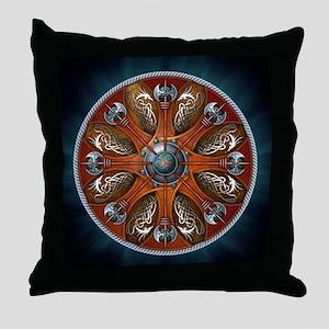 Norse Shields - Aegishjalmur Throw Pillow