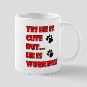 SERVICE DOG CUTE BUT WORKING Mugs