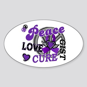 Peace Love Cure 2 GIST Sticker (Oval)