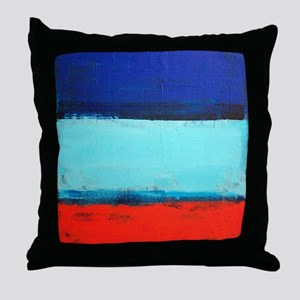 ROTHKO RED_BLUE Throw Pillow
