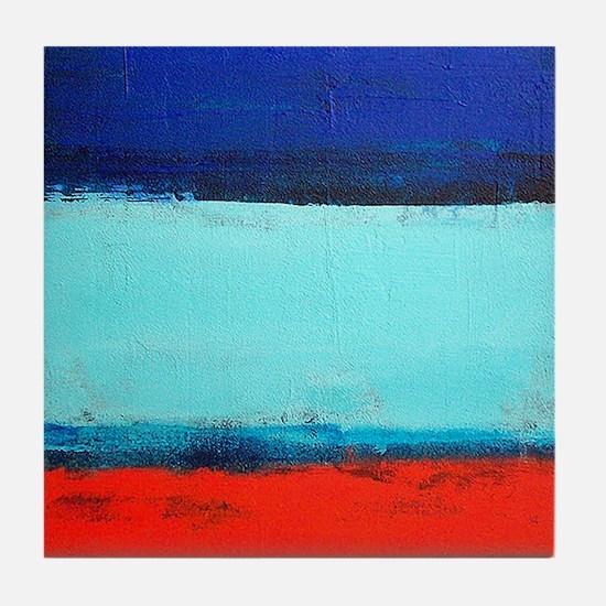 ROTHKO RED_BLUE Tile Coaster