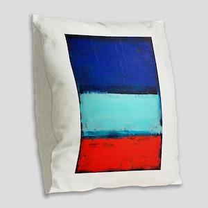 ROTHKO RED_BLUE Burlap Throw Pillow