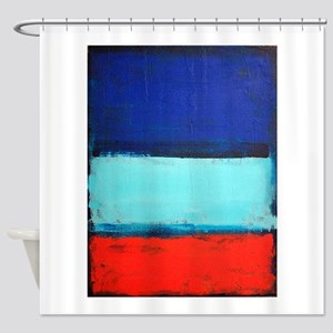 ROTHKO RED_BLUE Shower Curtain