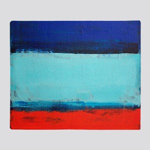 ROTHKO RED_BLUE Throw Blanket