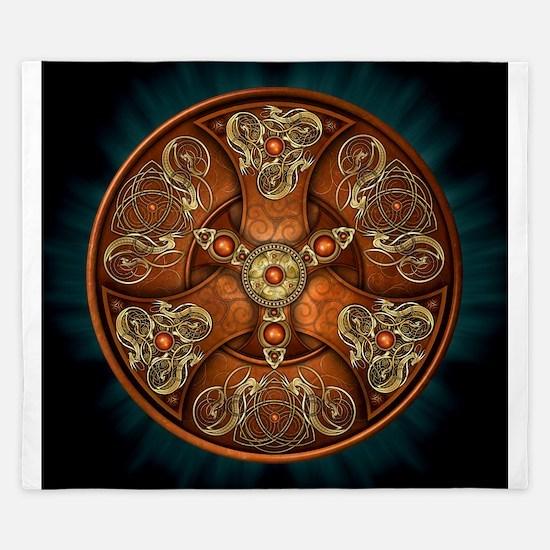 Celtic Shields - Copper Chieftain King Duvet