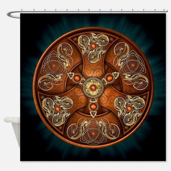 Celtic Shields - Copper Chieftain Shower Curtain
