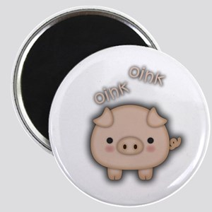 Cute Pink Pig Oink Magnets