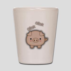 Cute Pink Pig Oink Shot Glass