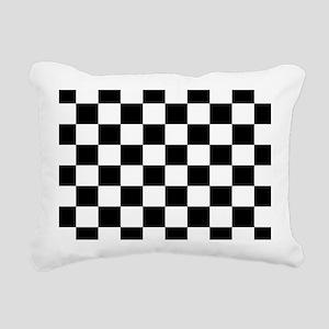 Black and White Checkerboard Rectangular Canvas Pi