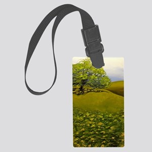 Texas Live Oak and Wildflowers Large Luggage Tag