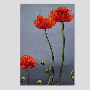 Dreary Day Poppies Postcards (Package of 8)