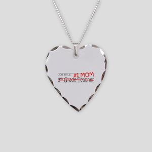 Job Mom 5th Grade Necklace Heart Charm
