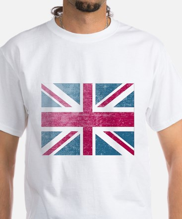Union Jack Retro White T-Shirt